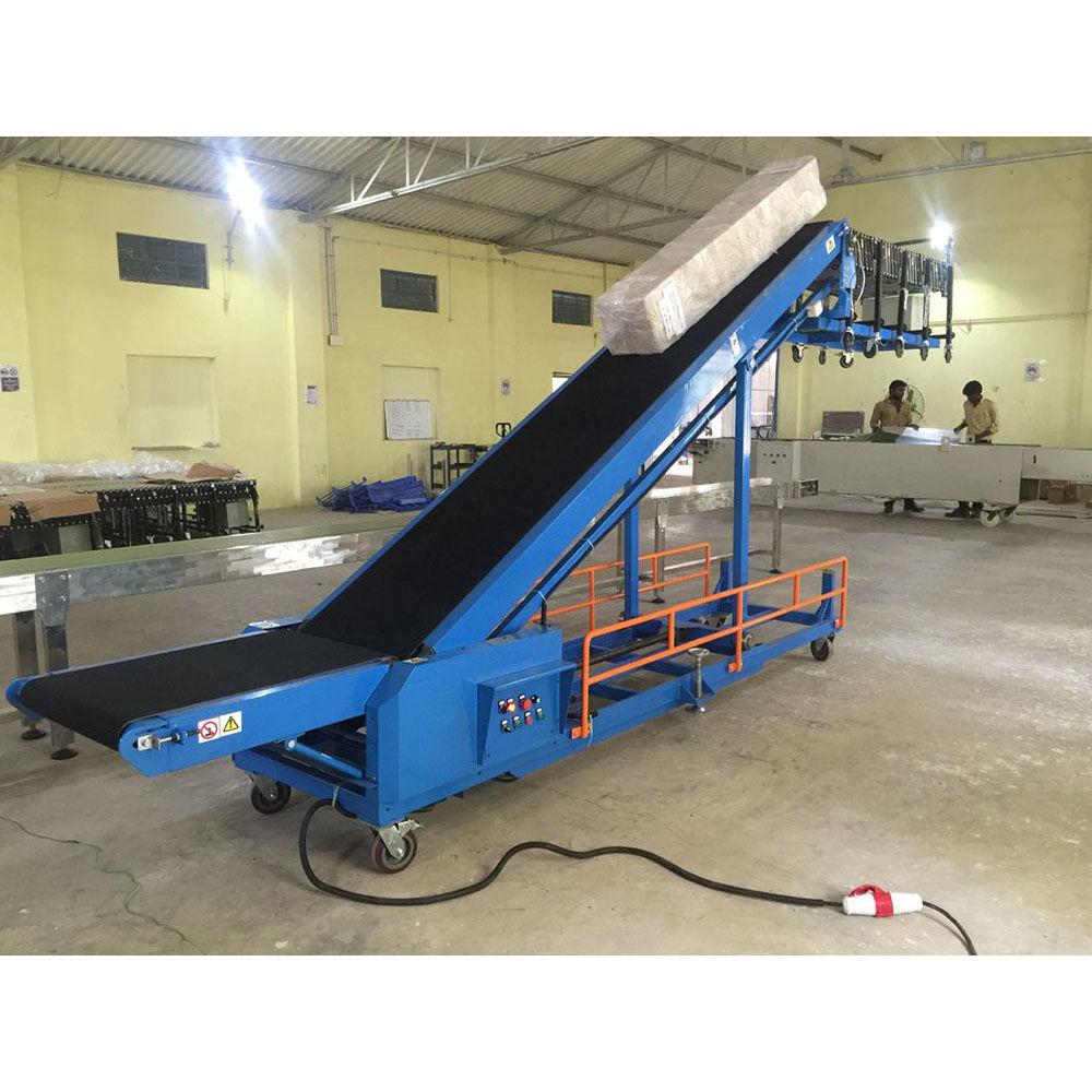 Flexible Conveyor Belt Load System Mobile Belt Conveyor Unload System