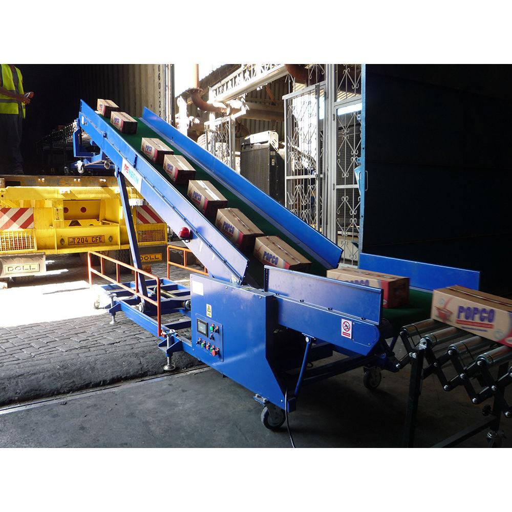 Van Truck Container Loading Conveyor Mobile Warehouse Carton Conveyor