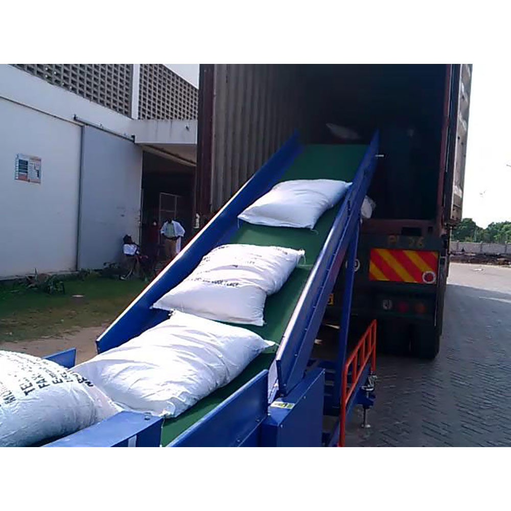 Mobile loading conveyor for paddy 50kg bag cement loading conveyor