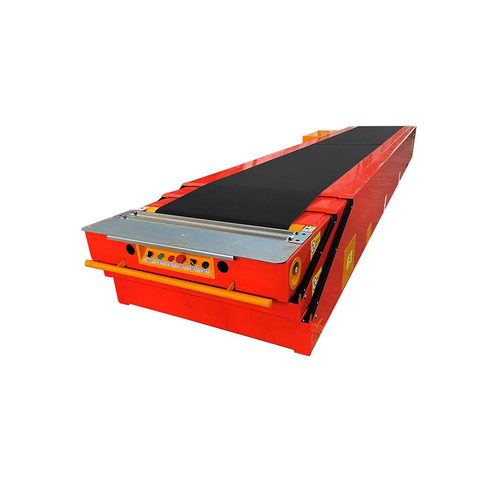 Telescopic truck conveyor belt bulk loading conveyor for wood pellets