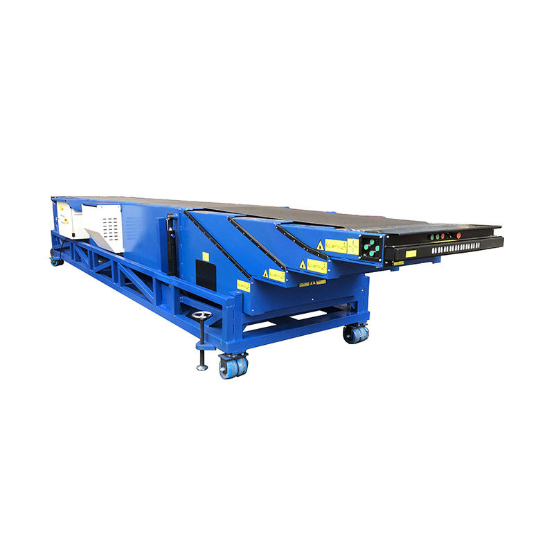 4 stages Logistic Truck Trailer Extendable Telescopic Belt Conveyor for Bags Cartons
