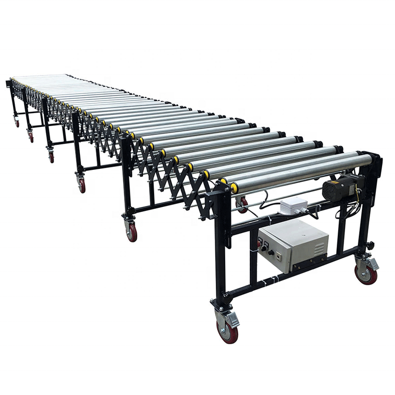 Heavy duty angled roller conveyor production line for food