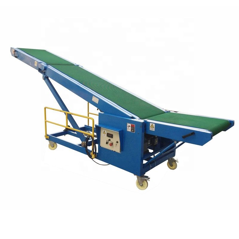 Foldable truck loading conveyor for load unload trucks containers