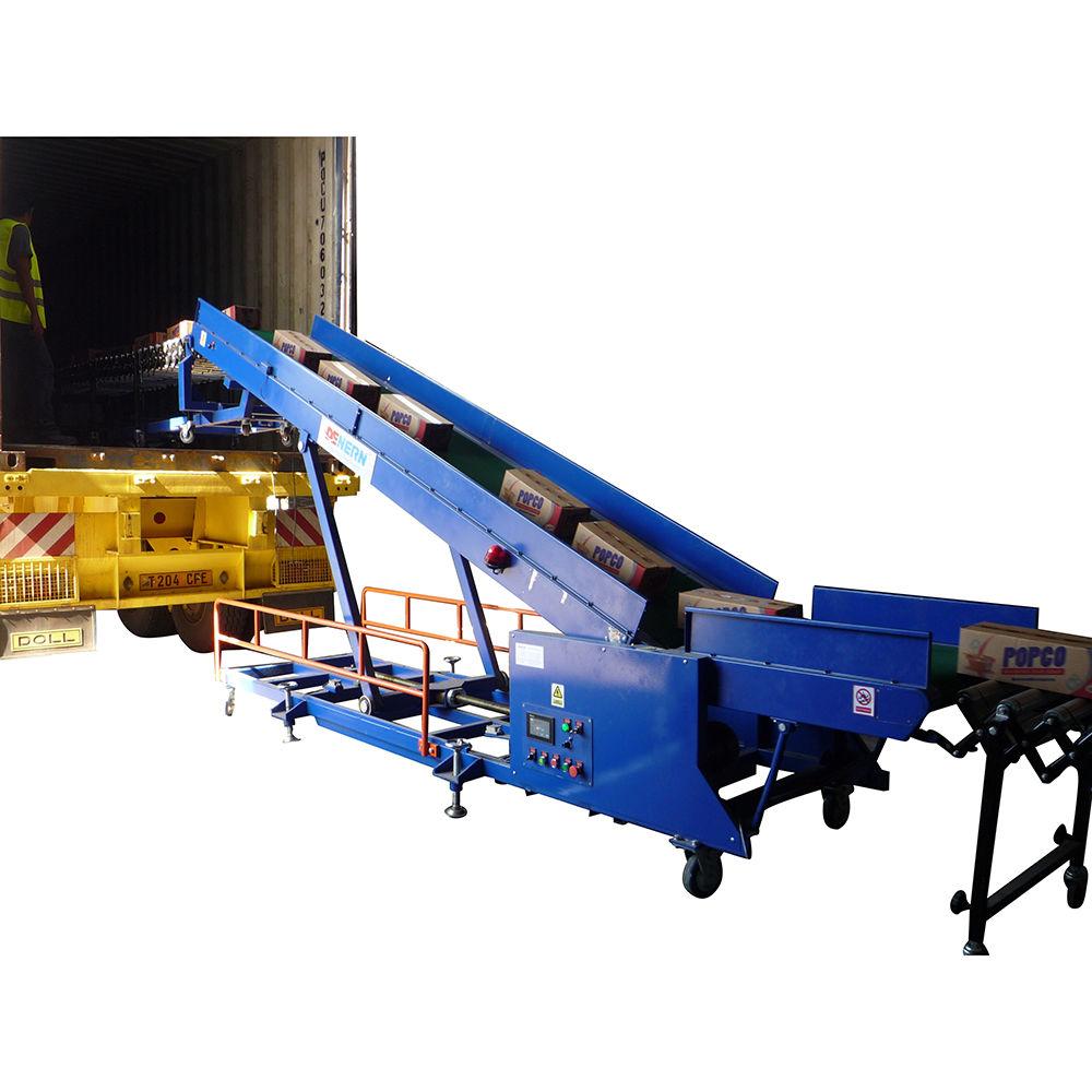 Mobile Conveyor Loaders Warehouse Conveyor Belt With Counting Sensors