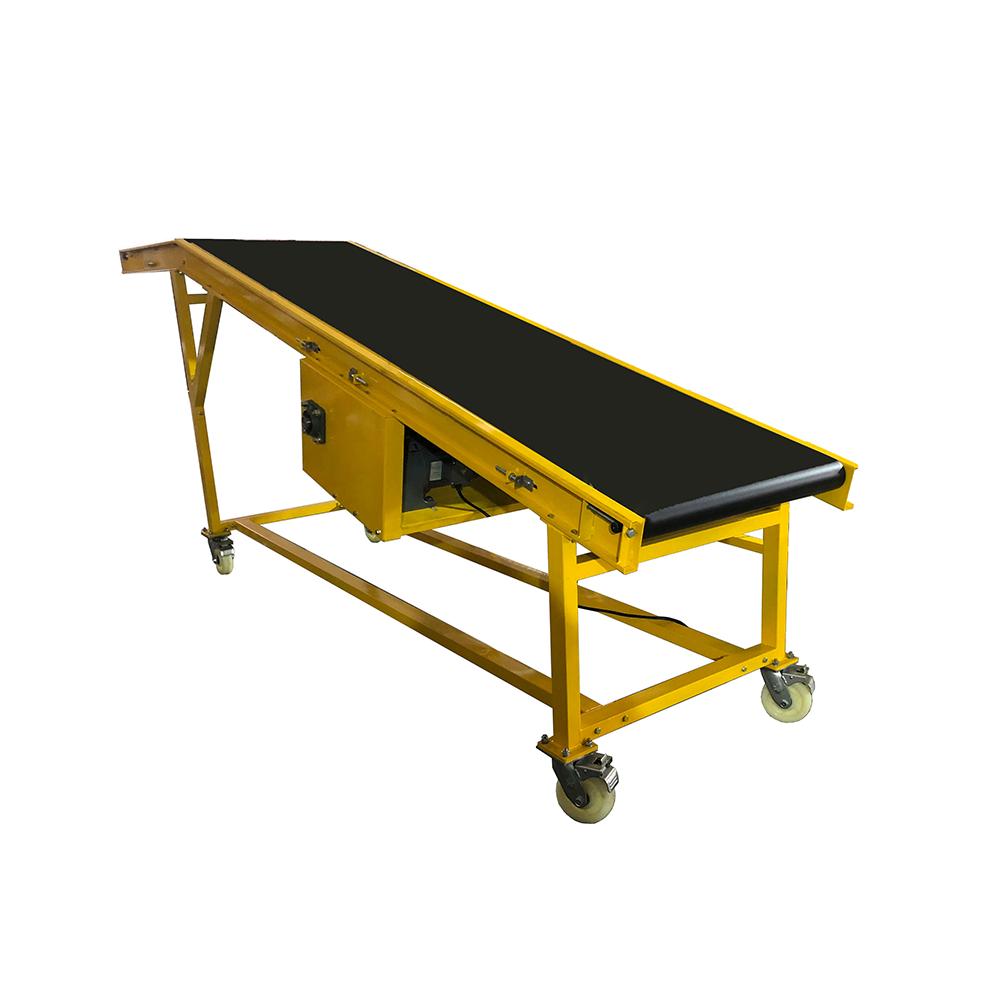 Customized good quality inclined black belt conveyor for warehouse conveyor