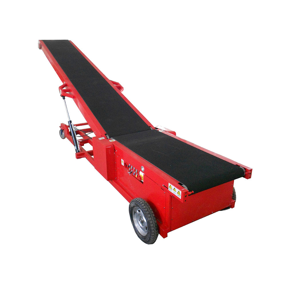Removable Inclined Truck belt conveyor with walking system for loading and unloading