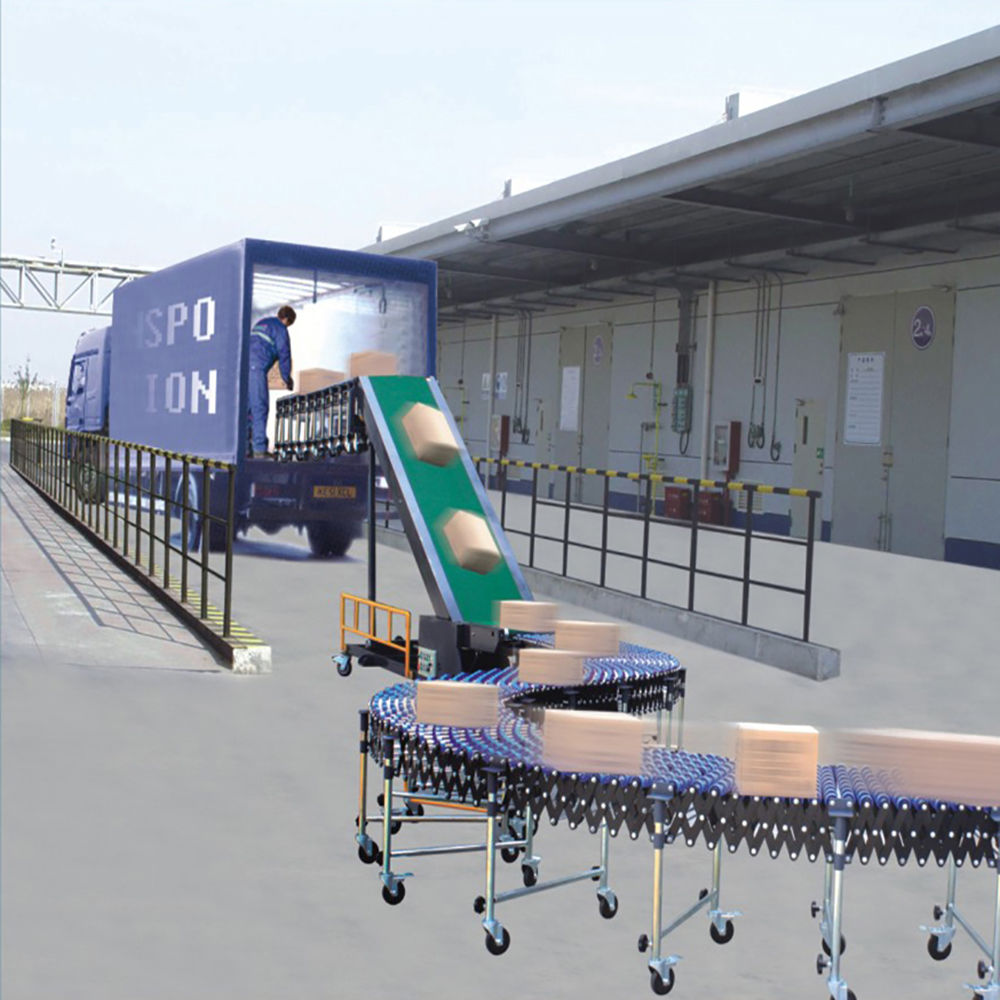 China origin 40ft container loading and unloading conveyor