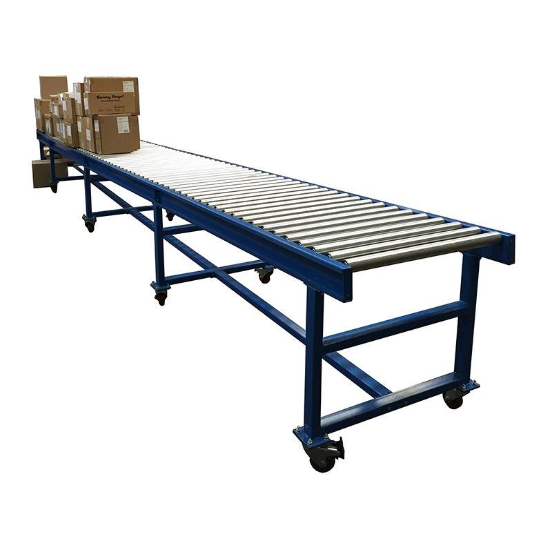 Mobile gravity roller conveyor, carton loading unloading roller conveyor