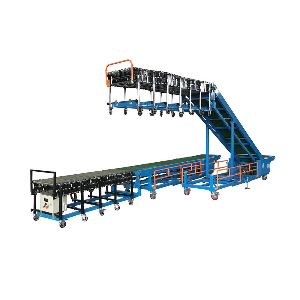 Factory promotion fruit loading un loading conveyor belt system