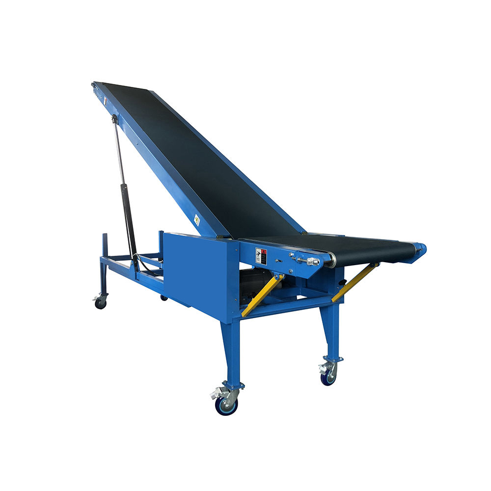 Hydraulic container loader bags loading mobile belt conveyor price