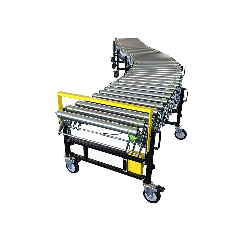 Cartons,bag,fruit,vegetable roller conveyor table