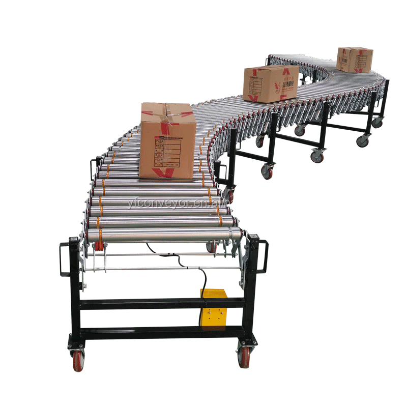 flexible powered belt roller conveyor with competitive price
