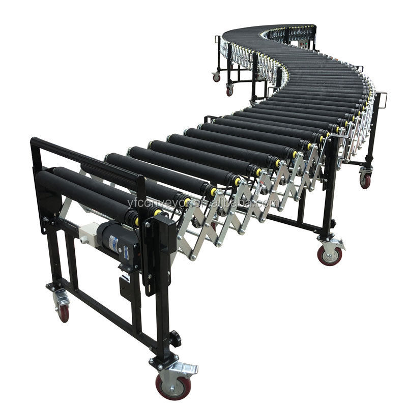 Factory Price Powered Flexible Expandable Roller Conveyor