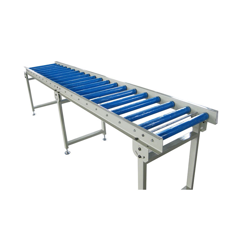 50mm dia gravity galvanized steel conveyor roller with spring loaded shaft