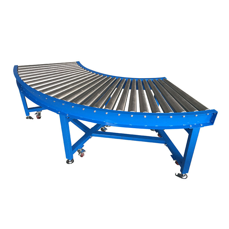 90 degree gravity curve roller conveyor, no power roller conveyor