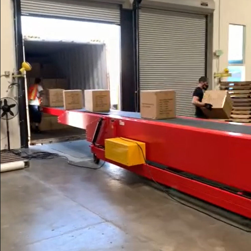 Hot sell extendable belt conveyor used for truck container loading and unloading
