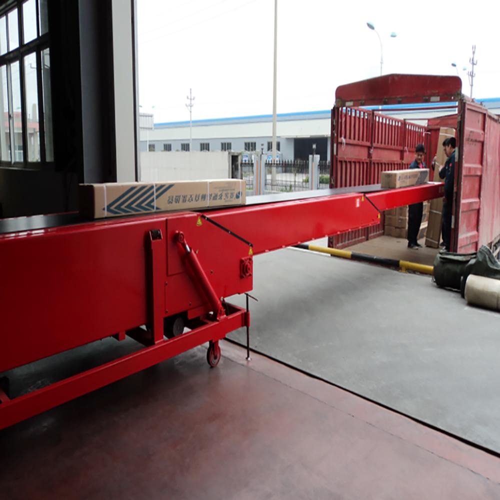 Factory design best price telescopic belt conveyors unloading equipment
