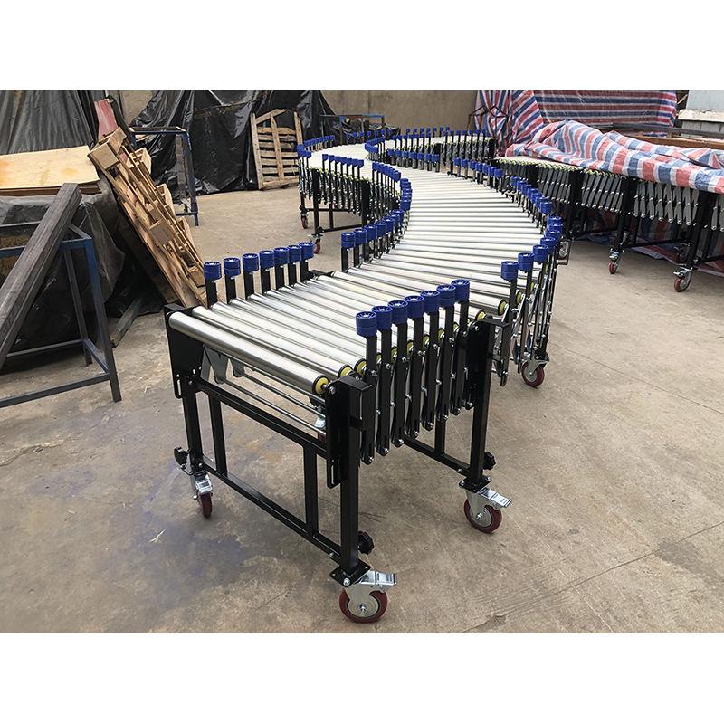 Flexible expansible gravity cans,cartons,roller conveyor