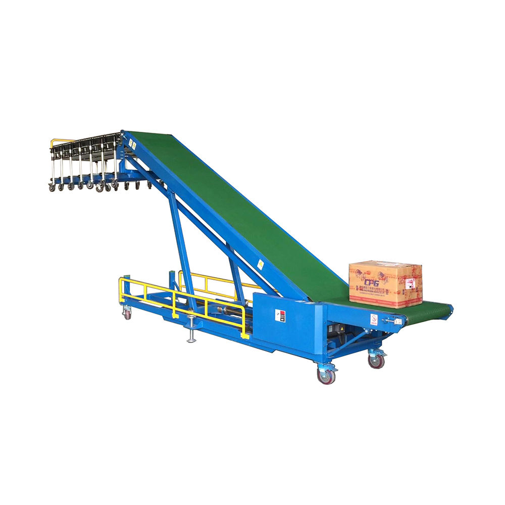 In stock portable adjustable loading conveyor truck loading mobile belt conveyor