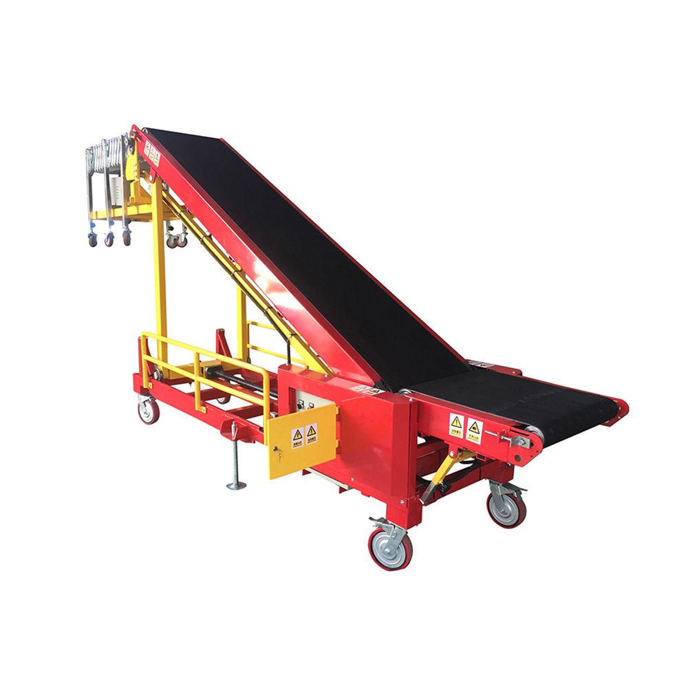 Portable belt conveyor for loading portable mobile belt loading conveyor