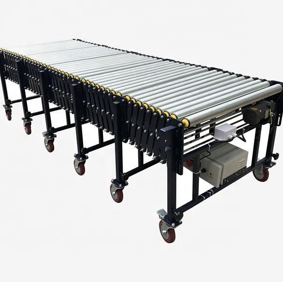 High quality customized adjustable speed powered roller conveyor