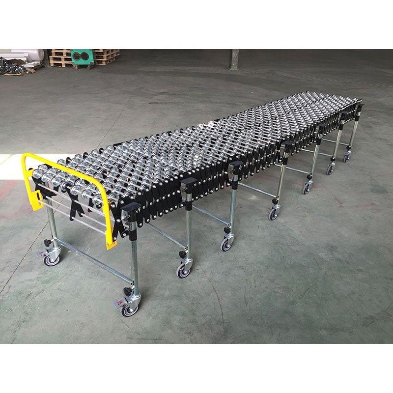 Flexible steel skate wheel conveyor roller, unloading roller conveyor