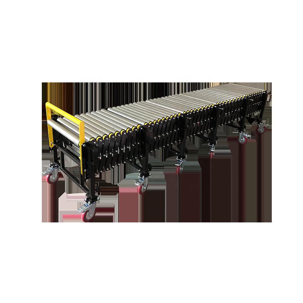 Top quality standard industrial telescopic gravity steel  roller conveyor