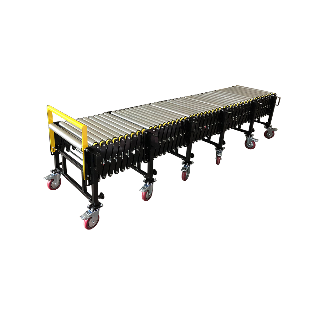 Factory made best portable gravity steel roller conveyor for container unloading