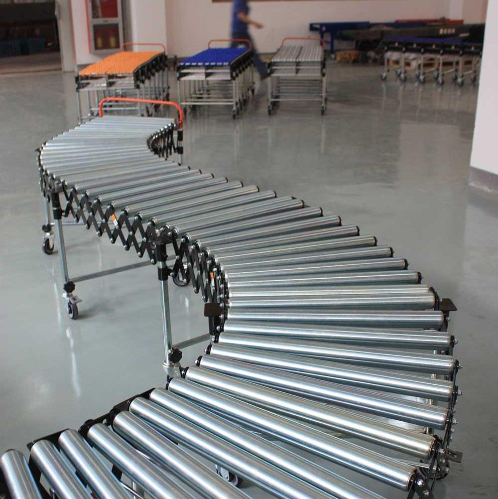Good quality and price of china gravity roller belt conveyor