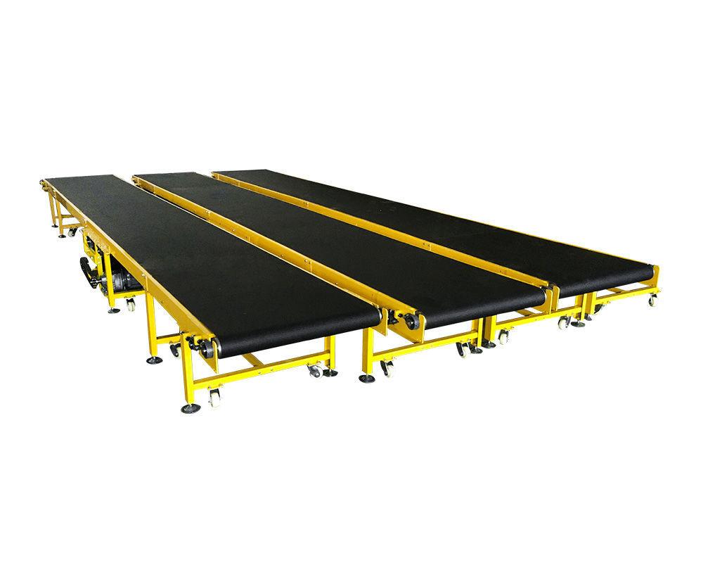 High quality Industry Heavy Duty PVK  Black Mobile Flat belt conveyor machine