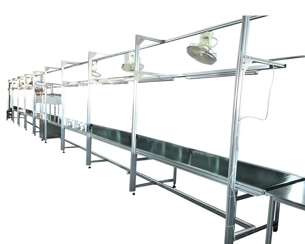 Custom Conveyor Assembly Line Workbench Table Final Production Line Assembly Belt Conveyor