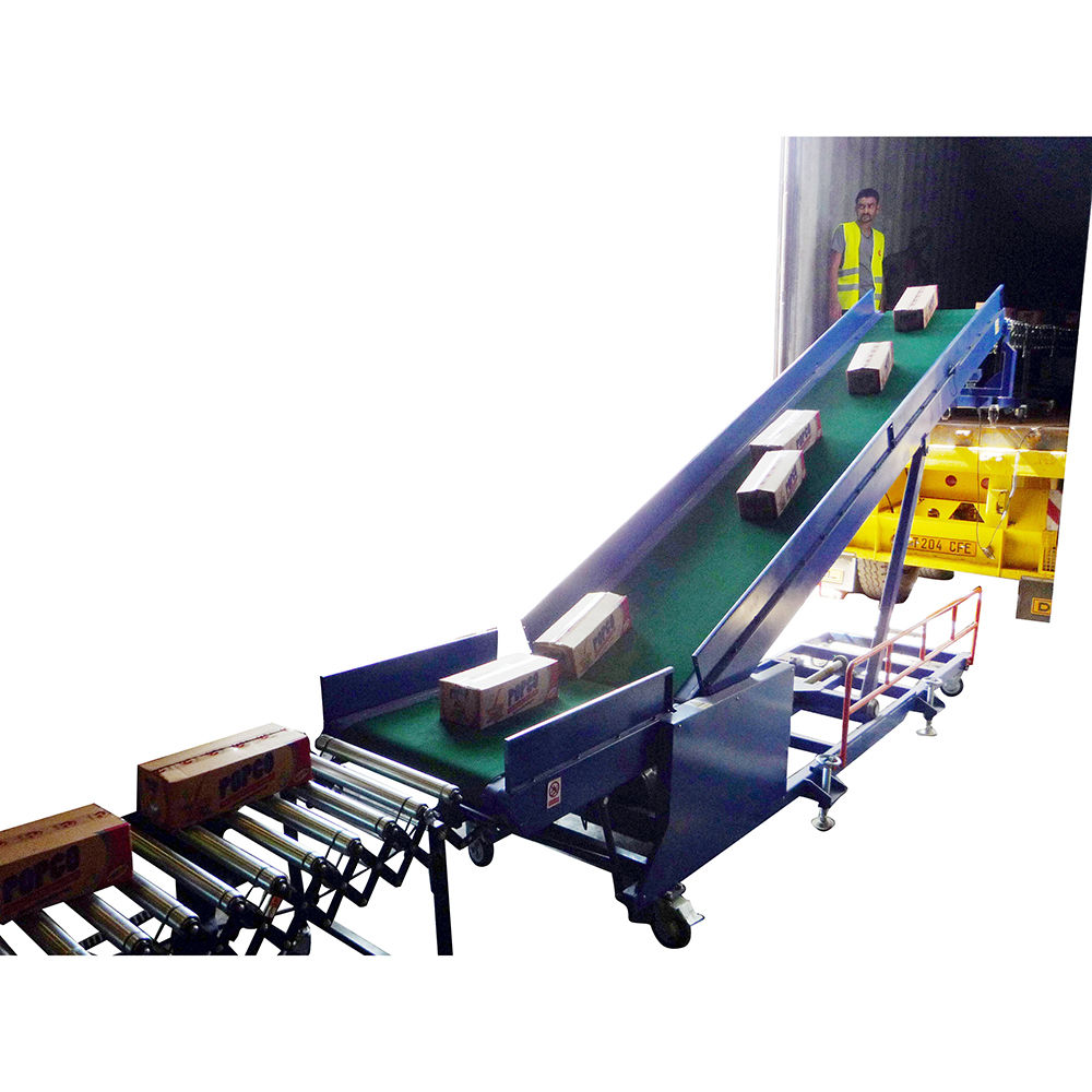 Movable Belt Conveyor for Container Load Unloading cartons/boxes/non woven bag