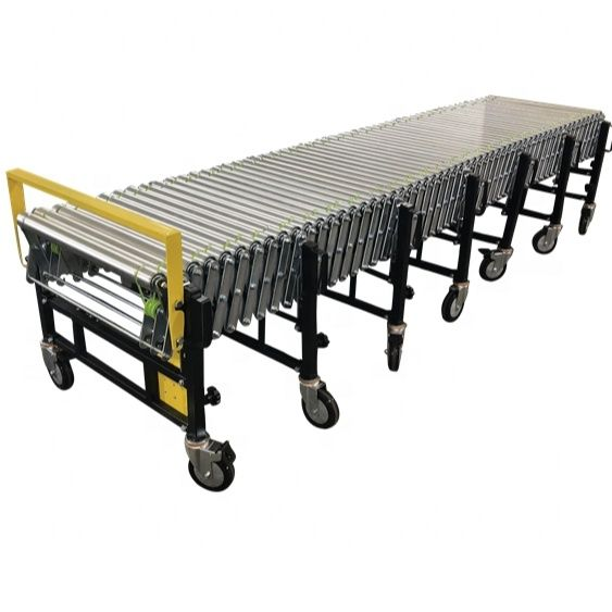 Newest design top quality systems O belt flexible powered roller conveyor