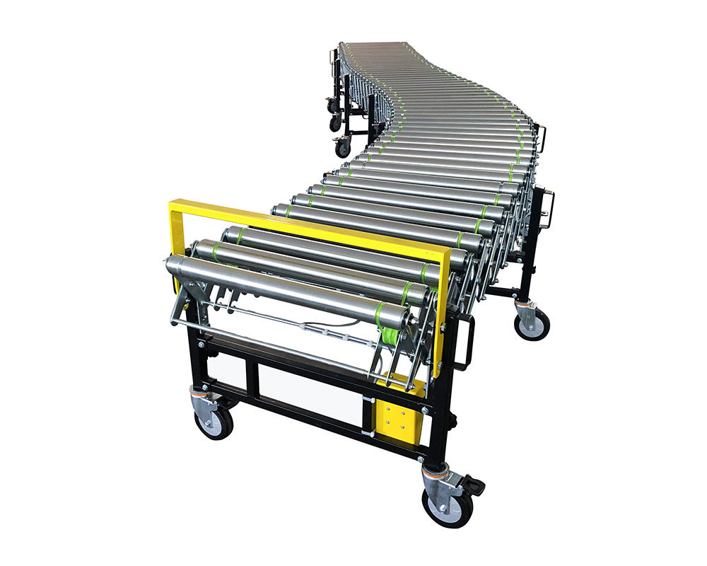 Expandable Powered Roller Conveyor, Motorized Flexible Roller Conveyor,Mobile Roller Conveyor