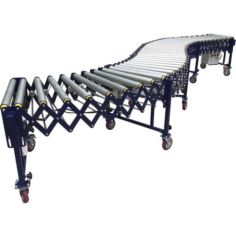 Customize powered flexible roller conveyor power