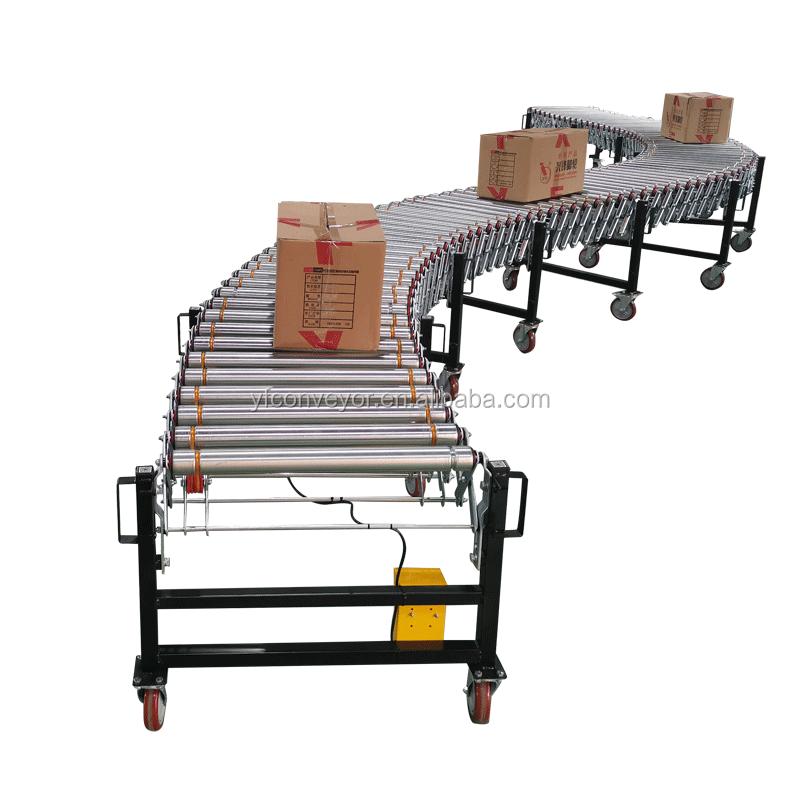 Factory made powered flexible belt roller conveyors