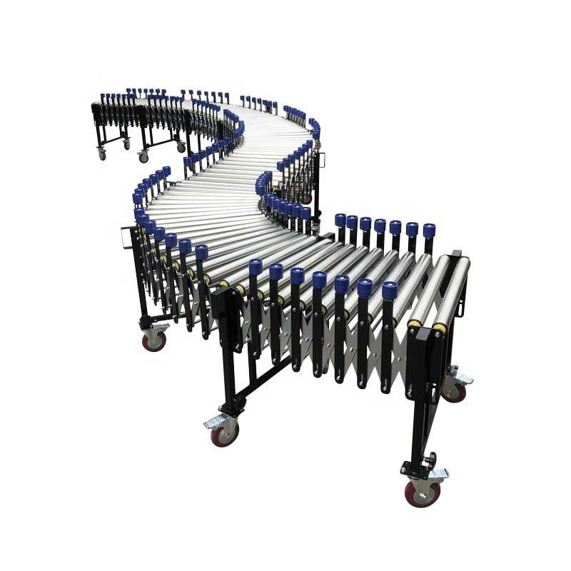 Factory direct sell small flexible steel roller conveyor for unloading