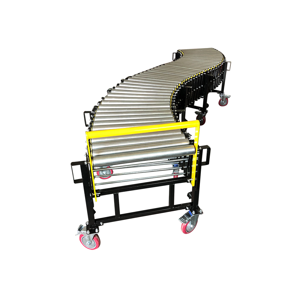 50kg load Expandable adjustable height flexible gravity Roller Conveyor