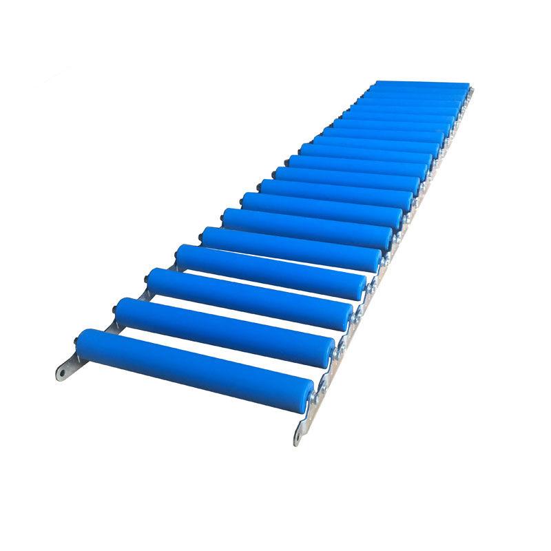 Foldable Portable Gravity Unloading Unpowered Floor roller conveyor system