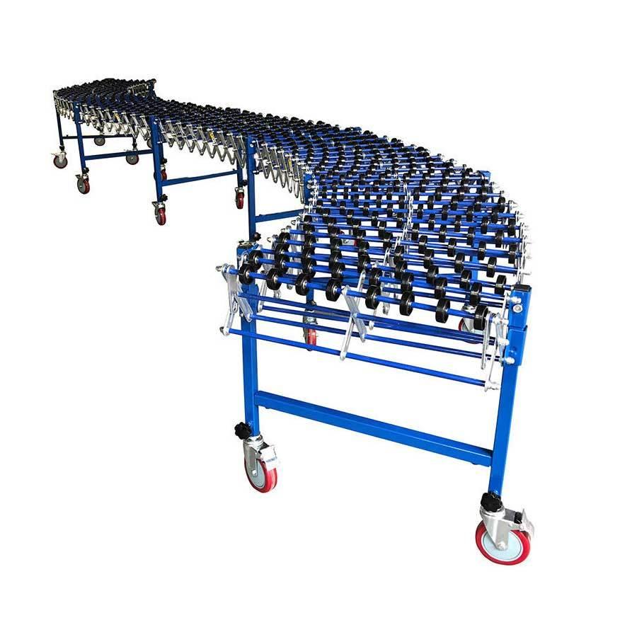 Good quality portable gravity steel skate wheel conveyor for unloading cartons