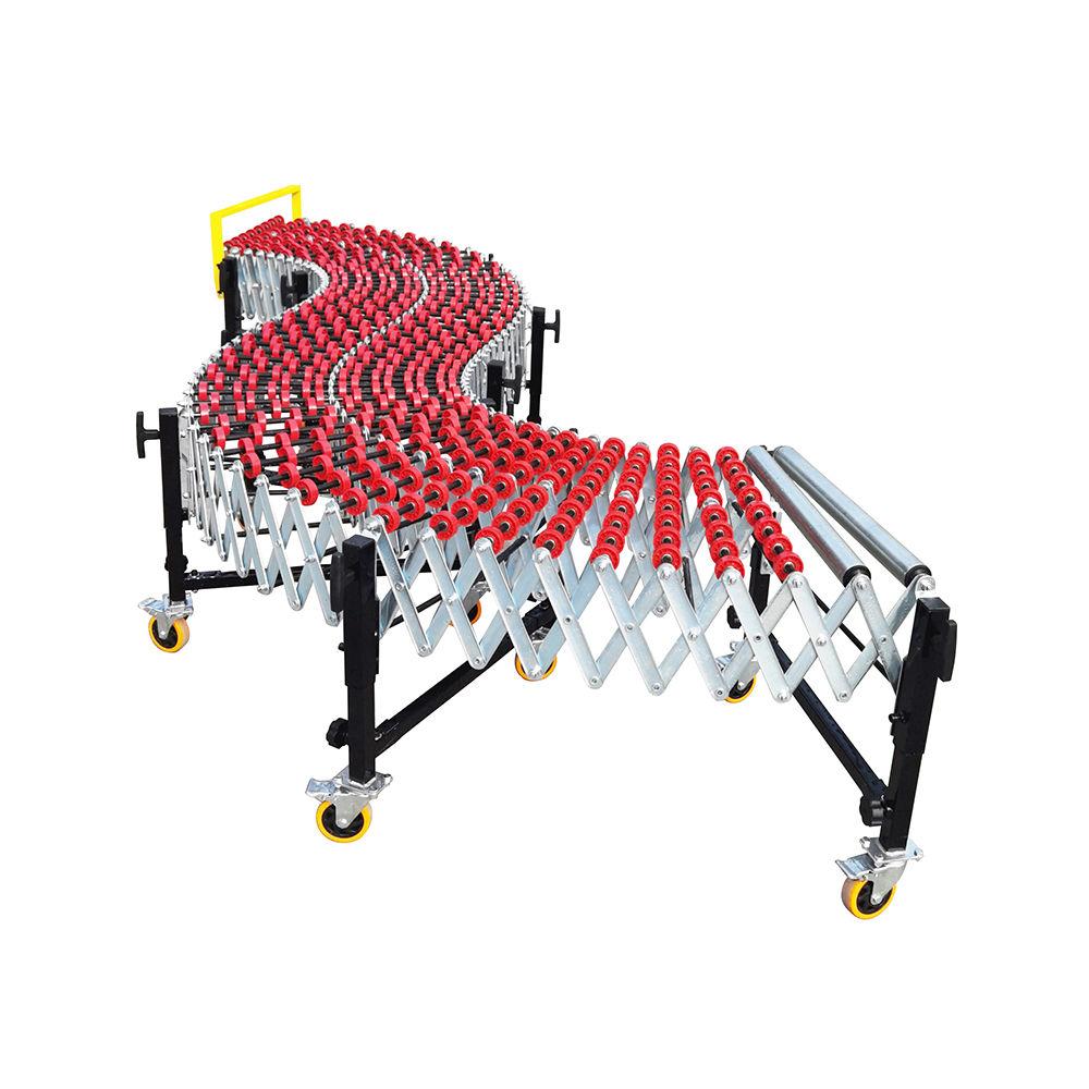Customized Flexible Gravity Plastic Skate Wheel Telescopic Conveyor
