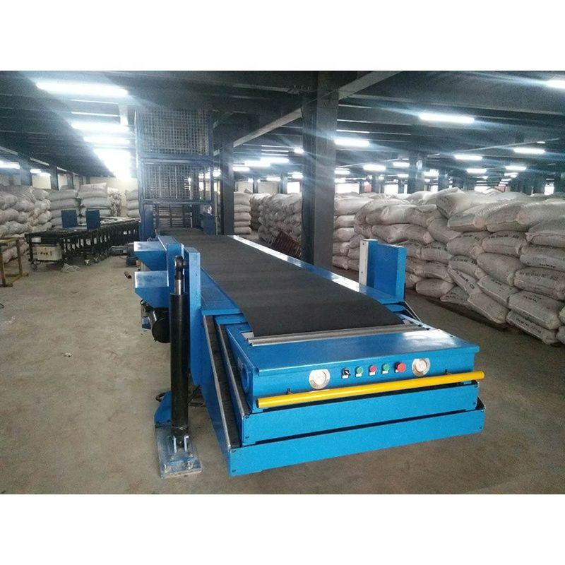 Flexible lifting loading unloading telescopic conveyor belt type