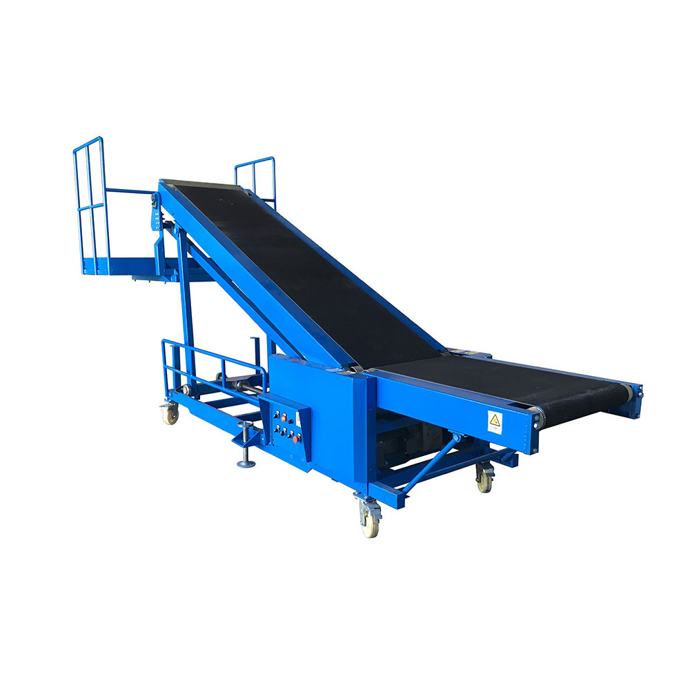 New design portable small belt conveyors with people standing platform