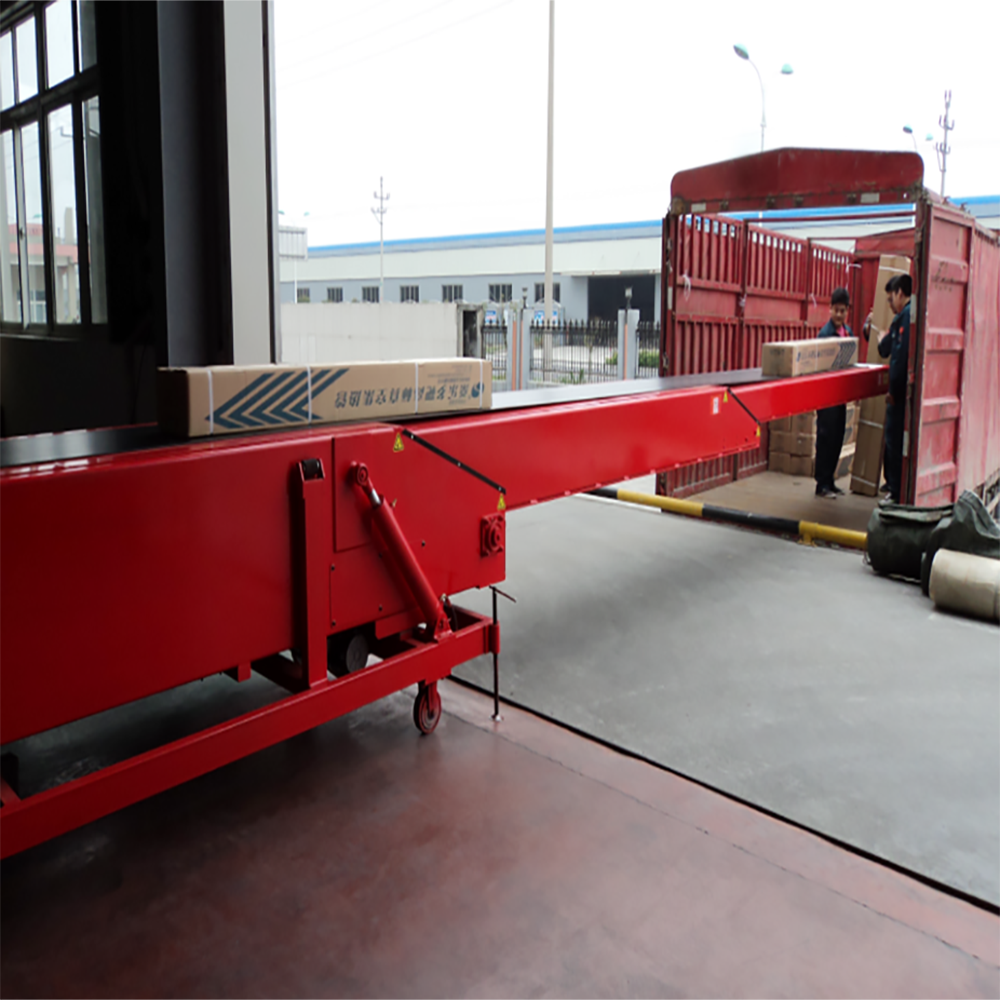 Ningbo China mobile telescopic belt conveyor with adjustable speed and direction