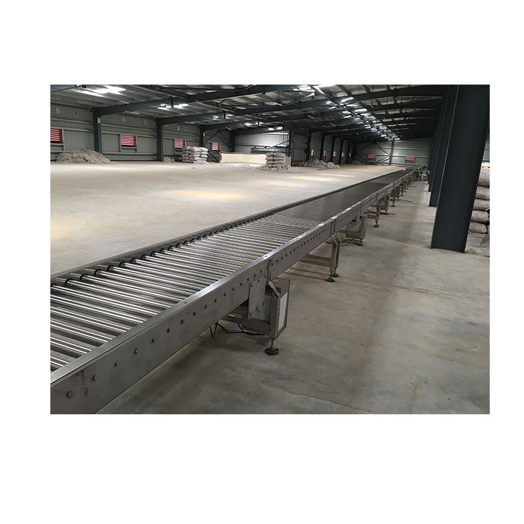 High quality durable stainless steel powered roller conveyor
