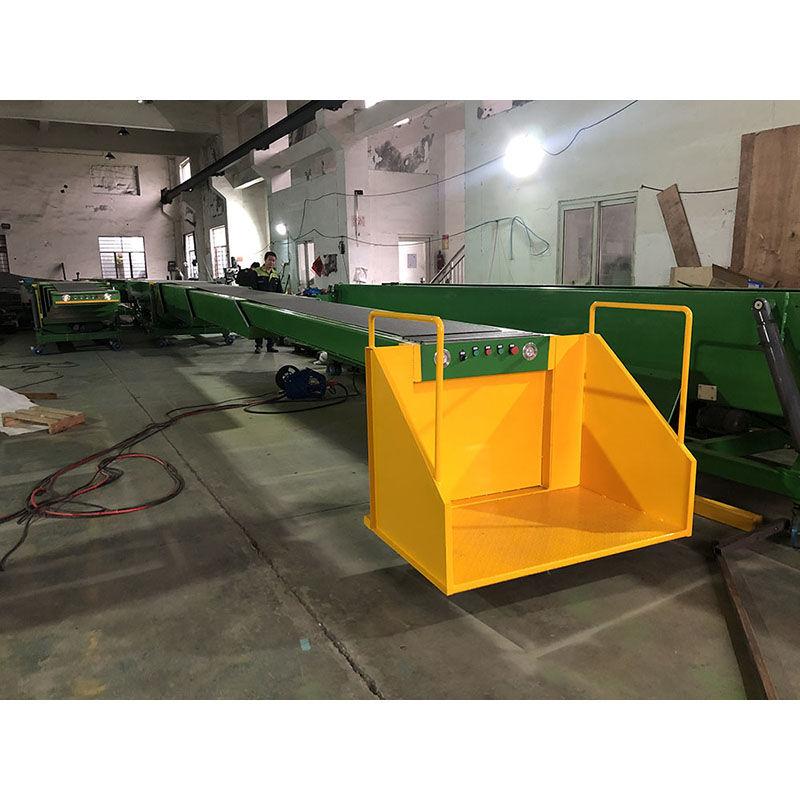 Container and Truck Loading Unloading Telescopic Belt Conveyor Equipment