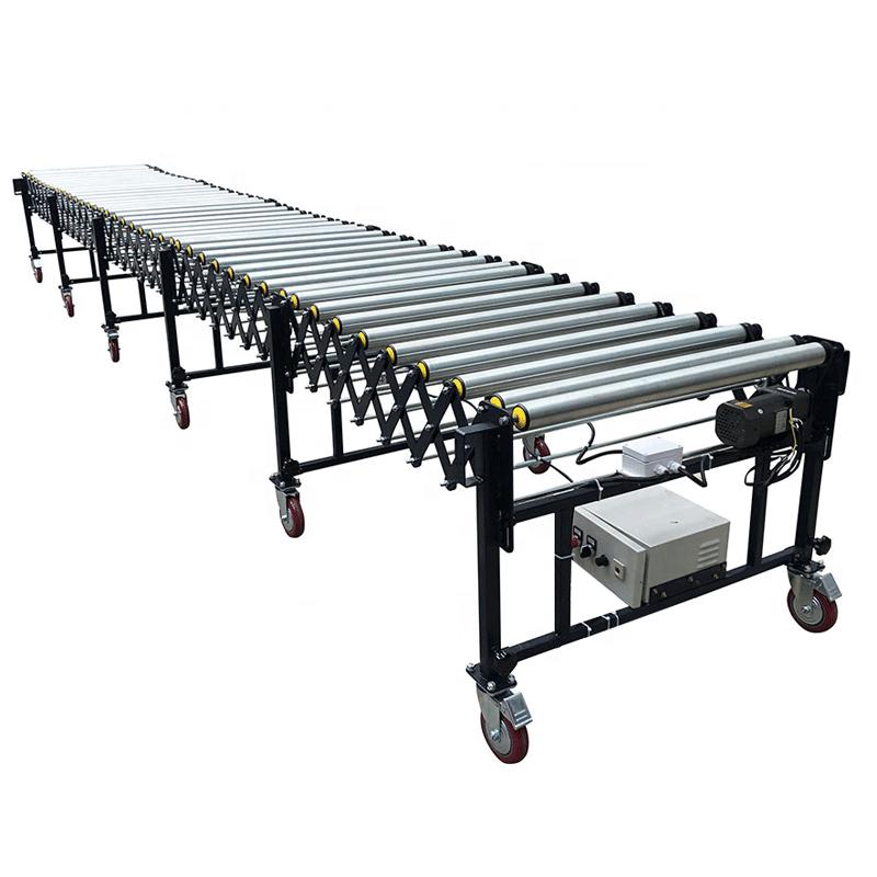 Power flexible roller conveyor,motorized flexible roller conveyor