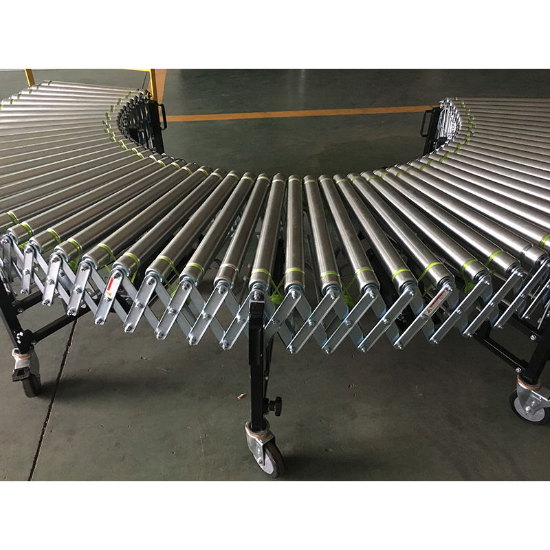 Motorised Expandable Roller Conveyors for conveying drums, cartons, fibre drums and sacks