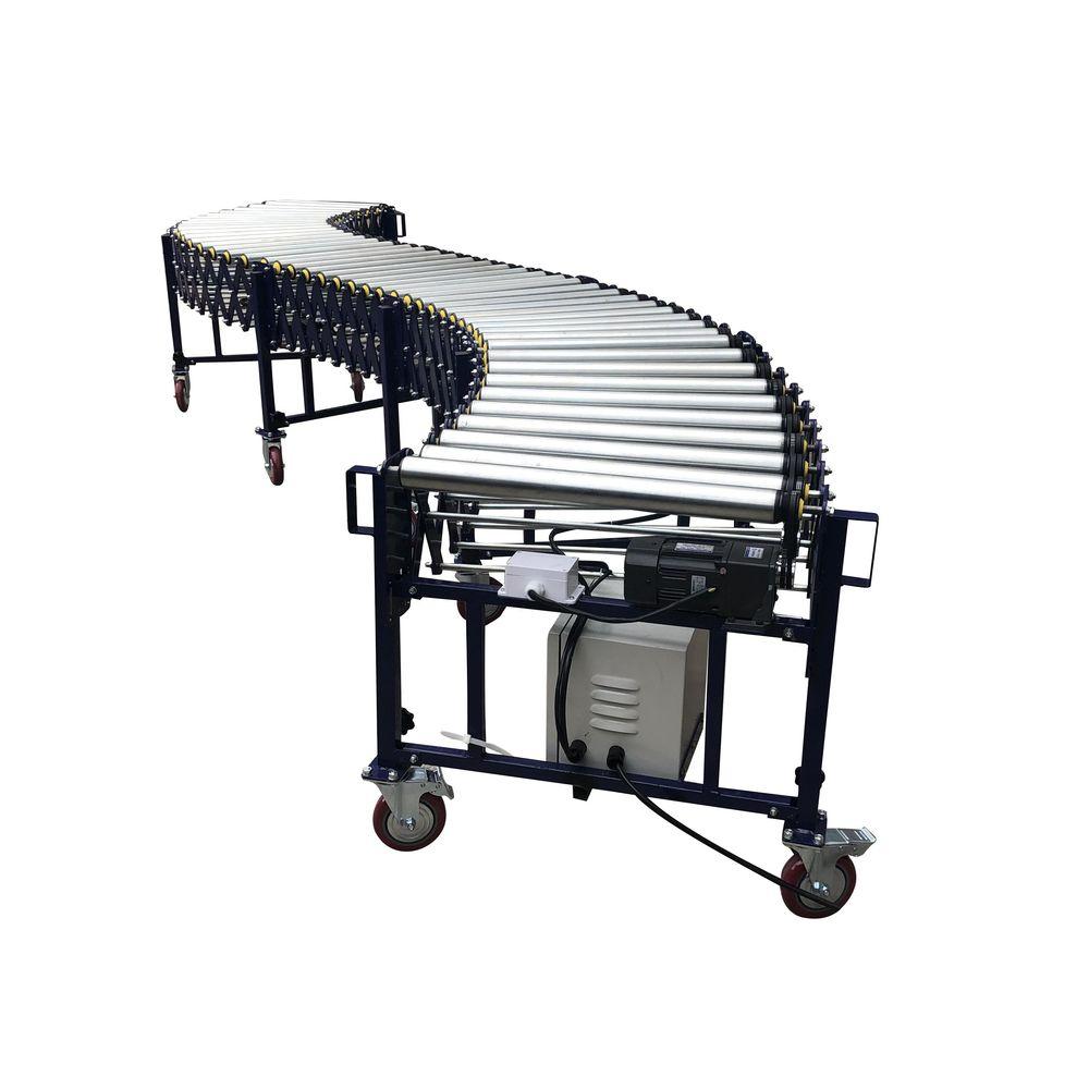 Industrial linear electric belt roller conveyor