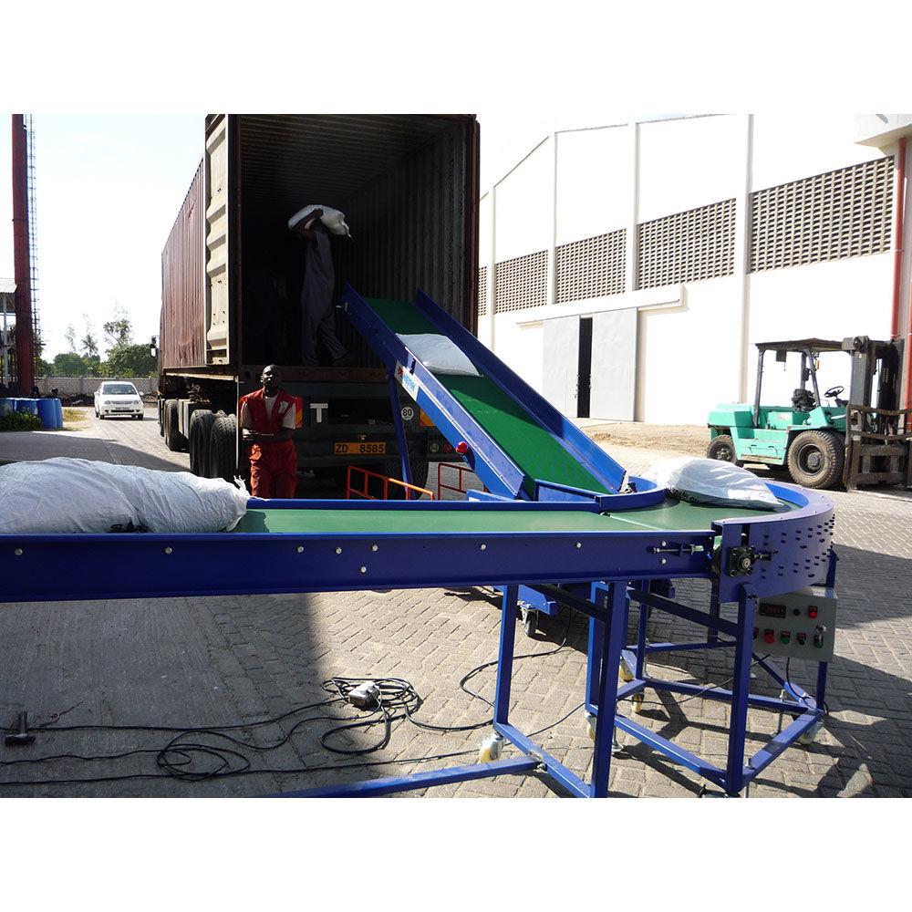 Warehouse Loading Unloading Conveyor Line Portable Bag Conveyor Container Unloading Ramp